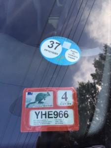 Il mio bel Parking Permit nuovo di zecca!