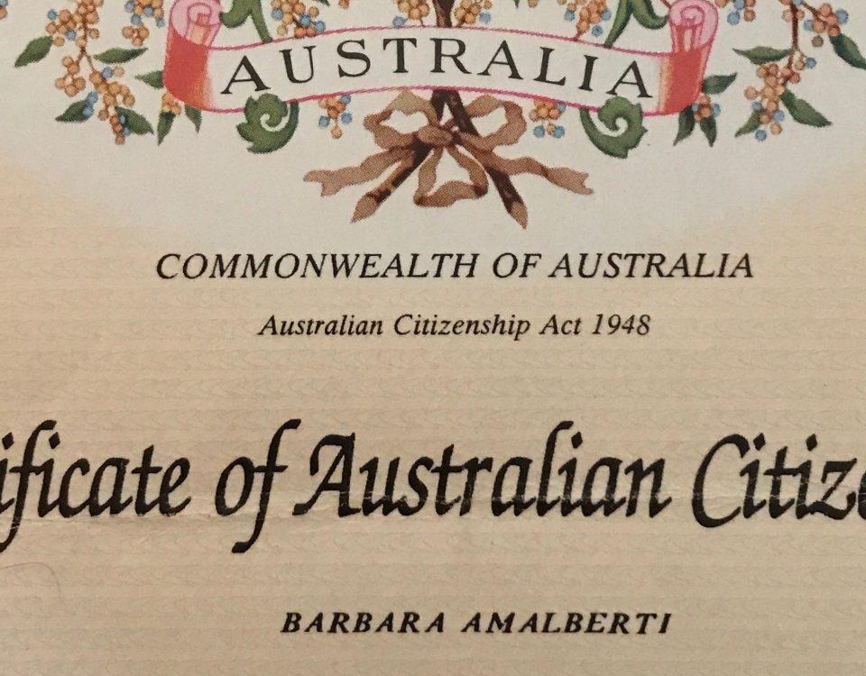 cittadina australiana